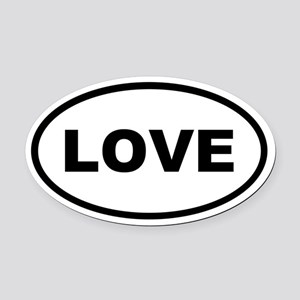LOVE Oval Car Magnet