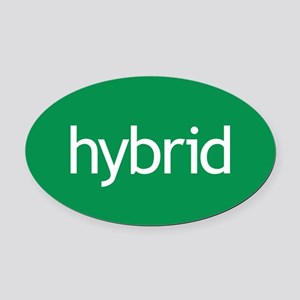 Hybrid green Oval Car Magnet