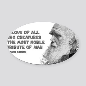 darwin_pic_quote_text Oval Car Magnet