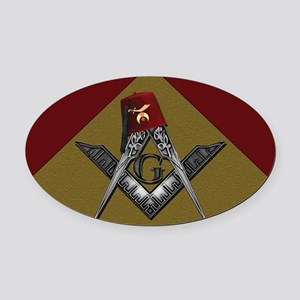 Shriners pyramid Oval Car Magnet