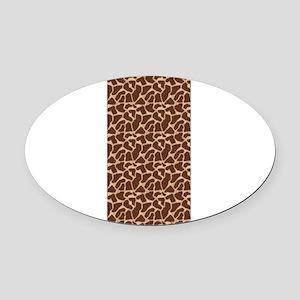Animal Print GIRAFFE Oval Car Magnet