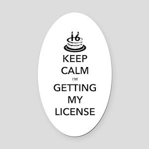 Keep Calm Sweet 16 Oval Car Magnet