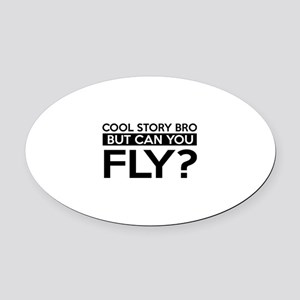 Fly job gifts Oval Car Magnet