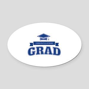 Congratulations Grad Oval Car Magnet