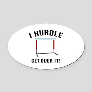 Get Over It! Oval Car Magnet