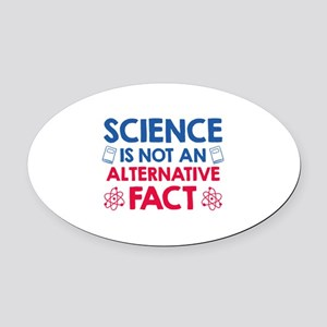 Science Oval Car Magnet