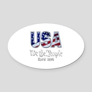 USA Oval Car Magnet