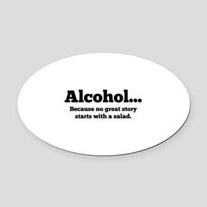 Alcohol Oval Car Magnet