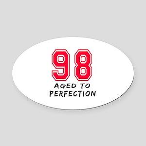 98 Year birthday designs Oval Car Magnet