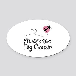 World's Best Big Cousin Oval Car Magnet