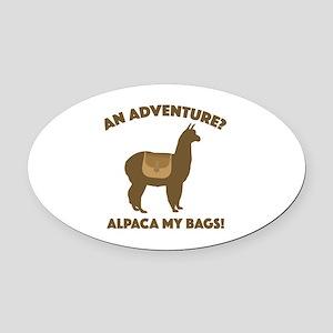 Alpaca My Bags Oval Car Magnet