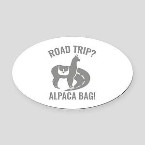 Road Trip? Oval Car Magnet