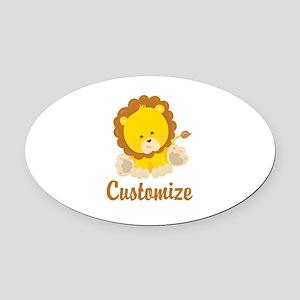 Custom Baby Lion Oval Car Magnet