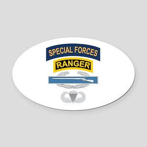SF Ranger CIB Airborne Oval Car Magnet