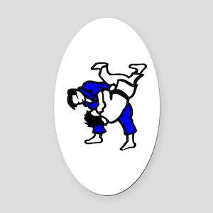Judo Oval Car Magnet