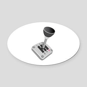 Gear Shift Oval Car Magnet