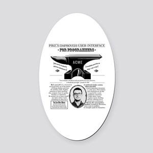 AcmePike Oval Car Magnet