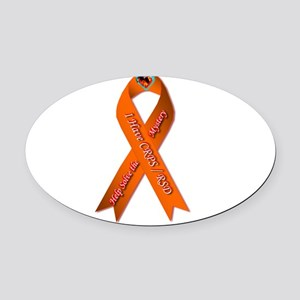 I have CRPS Fire & Ice Heart Ribbo Oval Car Magnet