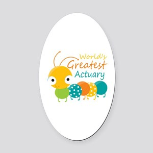 World's Greatest Actuary Oval Car Magnet