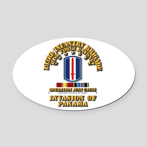 Just Cause - 193rd Infantry Bde w Oval Car Magnet