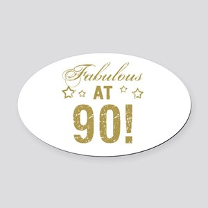 Fabulous 90th Birthday Oval Car Magnet