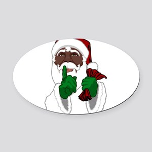 African Santa Clause Oval Car Magnet