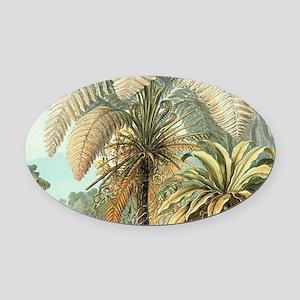 Vintage Tropical Palm Oval Car Magnet