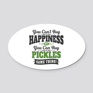 Pickles Happiness Oval Car Magnet