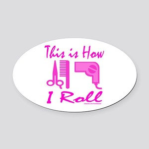 BEAUTICIAN/HAIRSTYLIST Oval Car Magnet