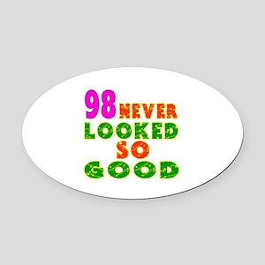 98 Birthday Designs Oval Car Magnet