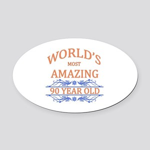 World's Most Amazing 90 Year Old Oval Car Magnet