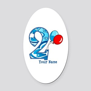 2nd Birthday Personalized Oval Car Magnet