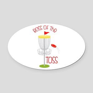 Toss Boss Oval Car Magnet