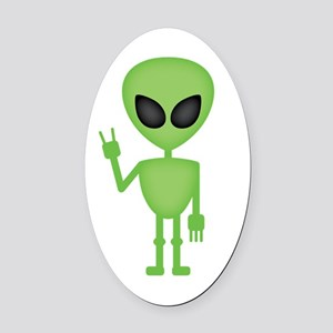 Aliens Rock Oval Car Magnet