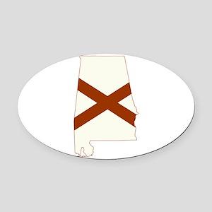 Alabama Flag Oval Car Magnet