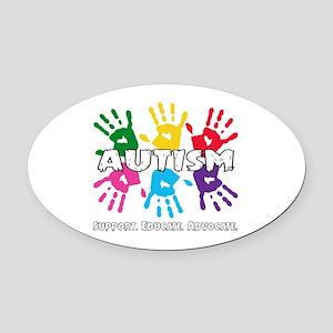 Autism Awareness Oval Car Magnet