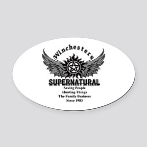 Supernatural Winchesters Oval Car Magnet