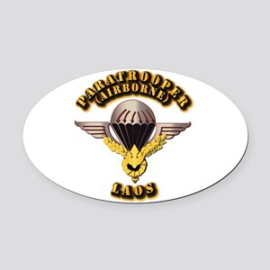 Airborne - Laos Oval Car Magnet