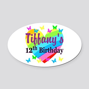 PERSONALIZED 12TH Oval Car Magnet