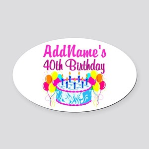 40TH PARTY Oval Car Magnet