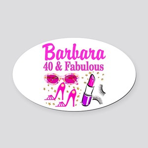40TH PARTY GIRL Oval Car Magnet