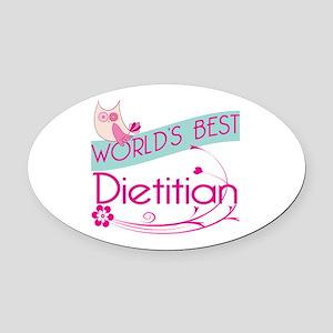 World's Best Dietitian Oval Car Magnet