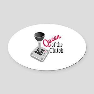 Queen Of Clutch Oval Car Magnet