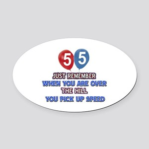 55 year old designs Oval Car Magnet