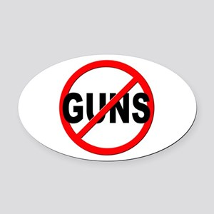 Anti / No Guns Oval Car Magnet