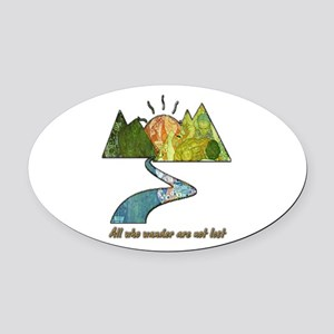 Wander Oval Car Magnet