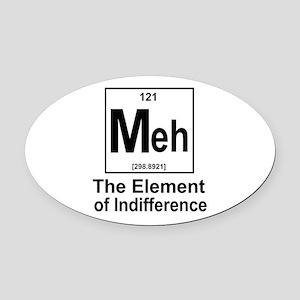 Element Meh Oval Car Magnet