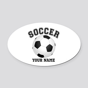 Personalized Name Soccer Oval Car Magnet