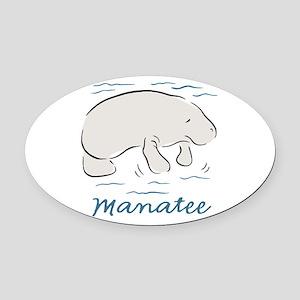 Manatee Oval Car Magnet