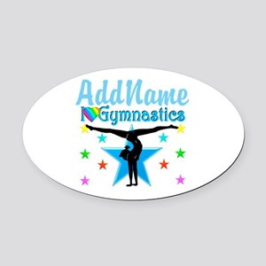 GYMNAST POWER Oval Car Magnet